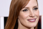 Jessica Chastain Long Straight Cut with Bangs