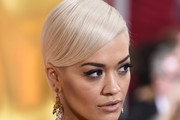 Rita Ora Side Parted Straight Cut