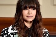Miroslava Duma Long Wavy Cut with Bangs
