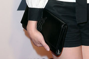 Rose McGowan Patent Leather Clutch