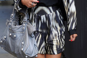 Vanessa White High-Waisted Shorts