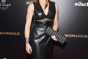 Brooke Shields Leather Dress