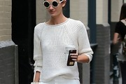 Lily Aldridge Crewneck Sweater