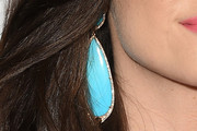 Emmy Rossum Dangling Turquiose Earrings