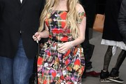 Avril Lavigne Off-the-Shoulder Dress