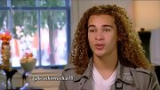 DeAndre Brackensick keeps his look natural with shoulder length golden brown curls.