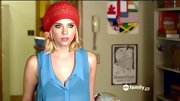 Ashley Benson proved winter hats can work in the summer when balanced by breezy pieces.