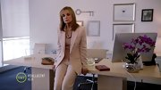 Linda Gray was all business on 'Dallas' in a girlish blush pantsuit.