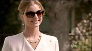 Emily VanCamp channeled the '50s with this pair of over-sized cat eye shades.