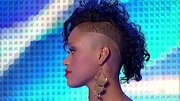 Paige Thomas' edgy Mohawk is perfect for showing off a pair of knockout gold earrings.