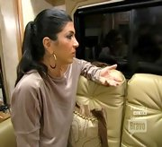 Between the velour and gold hoops, Teresa Giudice could almot pass for Jenny from the Block circa 2001.