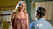 Mircea Monroe was so very romantic in this loose floral tank.