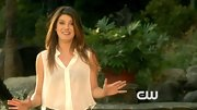 Shenae Grimes simplified her look with a lightweight button-down.