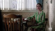 Alison Brie looked conservative on 'Mad Men' in this print shirtdress.