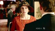 As Edith on 'Downton Abbey,' Laura Carmichael sported a wide brimmed hat for a casual lunch.