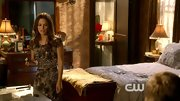 Rachel Bilson kept her edge on 'Hart of Dixie' with a dark abstract print dress.