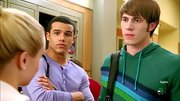 Blake Jenner sported a green striped hoodie for his high school look on 'Glee.'