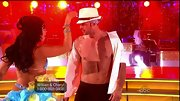 Things were getting steamy on the 'DWTS' dance floor! William upped his style factor with this fedora--no shirt required.