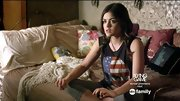 Lucy Hale had a punk rock think going on in this skull muscle tee.