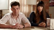 Hannah Simone's blunt bangs and long brunette tresses are her signature on 'New Girl.'