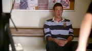 Cory Monteith prepped it up on 'Glee' in a rugby-striped polo shirt.