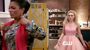 AnnaSophia Robb chose a fun and flirty pink frock that featured a sequined bodice and full tulle skirt for her pretty in pink look on 'The Carrie Diaries.'