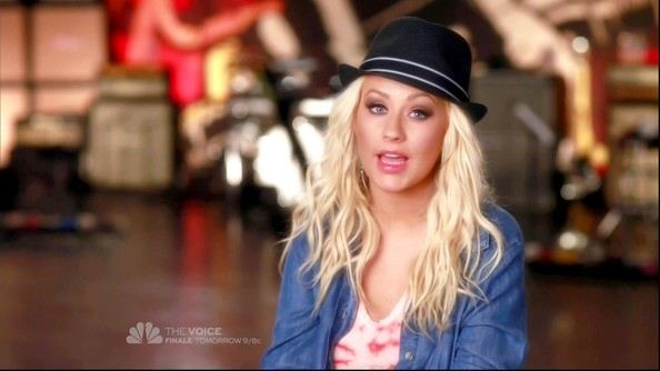 Christina Aguilera Denim Shirt