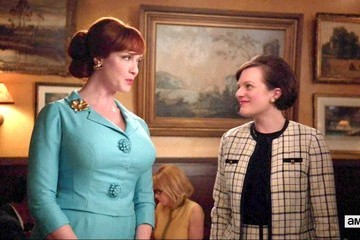 Christina Hendricks Elisabeth Moss Mad Men Season 6 Episode 10
