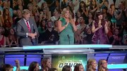 Mary Murphy kept her style elegant on 'So You Think You Can Dance' with a Kelly green cocktail dress.