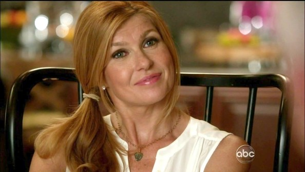 Connie Britton Gold Heart Necklace
