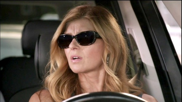 Connie Britton Rectangular Sunglasses