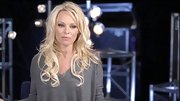 Pamela Anderson kept cozy for 'DWTS' rehearsals in a loose charcoal top.