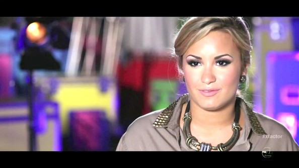 Demi Lovato Bronze Statement Necklace