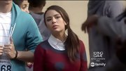 Janel Parrish channeled Zooey Deschanel on 'Pretty Little Liars' with this whimsical spotted sweater.