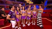 Melissa and team hit the dance floor in 'DWTS' cheerleading skirts and tops.