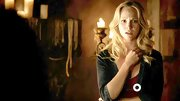 Candice Accola layered her look with an unusual denim blazer on 'The Vampire Diaries.'