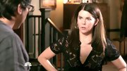 Lauren Graham dressed up her daytime look on 'Parenthood' with a sheer lace top.