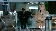 Mamie Gummer covered up her scrubs on 'Emily Owens, M.D.' with a tan pea coat.
