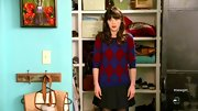 Zooey Deschanel was nerdy chic on 'New Girl' in this festive argyle sweater.