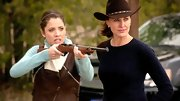 Brenda Strong looked like she was made for the south on 'Dallas' in a fitted cable knit sweater and cowboy hat.