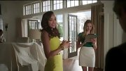 Ashley Madekwe's citrus-hued sheath popped against her caramel complexion on 'Revenge.'