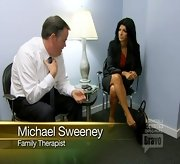 Teresa Giudice was all business during family therapy on 'The Real Housewives of New Jersey' in a black skirt suit.