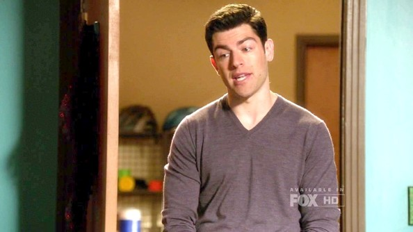 Max Greenfield V-neck Sweater