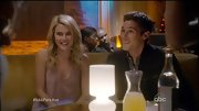 Rachael Taylor hit the town in a silky tank on '666 Park Avenue.'