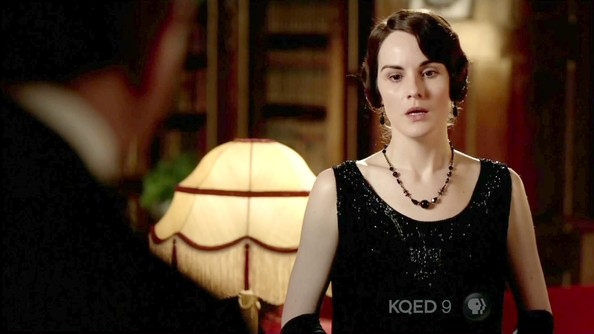 Michelle Dockery Beaded Dress
