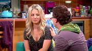 Kaley Cuoco kept her look playful with a fun confetti print blouse.