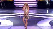 Hollie Cavanagh hit all the right notes in this pitch perfect sequined Go-Go mini dress.