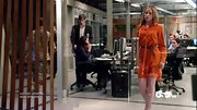Piper Perabo looked ready for fall on 'Covert Affairs' in a belted orange shirtdress.