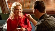 Mircea Monroe was a colorful cowgirl in this cherry jean jacket.