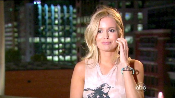 Emily Maynard gave her casual look a Southwest twist with a beaded turquoise bracelet.
